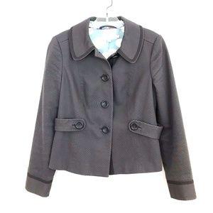 Boden waffle cotton blend blazer jacket career